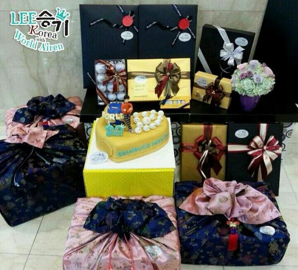 Happy Birthday Seung Gi fan gifts delivered by LSGKWA and